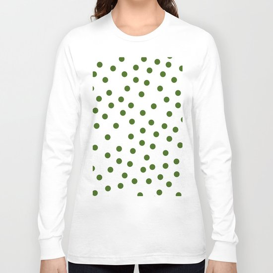 Simply Dots in Jungle Green Long Sleeve T-shirt