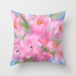 Teacup Pinks Throw Pillow