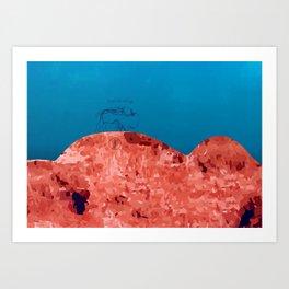 Bizon rouge Art Print