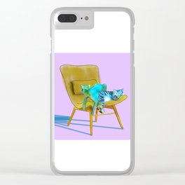 animals in chairs #12 Cats Clear iPhone Case