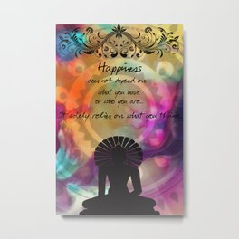 Zen Art Inspirational Buddha Quotes  Metal Print