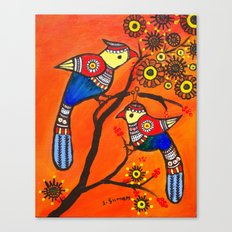 Bird Pair Canvas Print