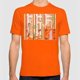 Four Freedoms Barcode T-shirt