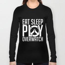 eat sleep play over-watch game t-shirts Long Sleeve T-shirt