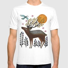 Design by Nature White MEDIUM Mens Fitted Tee