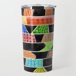 Black versus Color Travel Mug