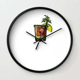 Bloody Mary I Prefer to Drink My Veggies Wall Clock