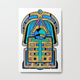 Scarabesque - Digital Art Deco Design Metal Print