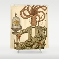 number Shower Curtains featuring Haircut number 8 by Pepetto