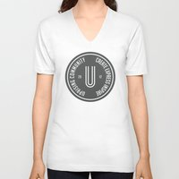 community V-neck T-shirts featuring Uprising Community by Uprising Community