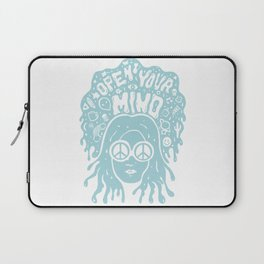 Open Your Mind in Mint Laptop Sleeve
