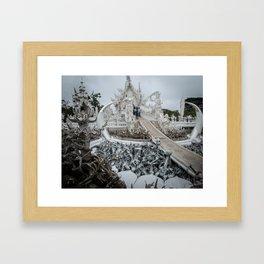 The White Temple - Thailand - 002 Framed Art Print