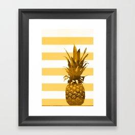 Pineapple with yellow stripes - summer feeling Framed Art Print