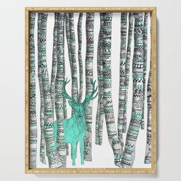 Turquoise Stag Serving Tray