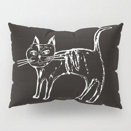 Little cat  white-black Pillow Sham