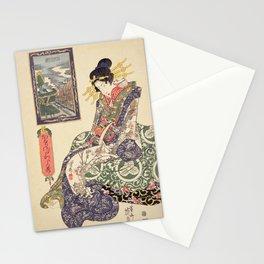 Geisha women Stationery Cards