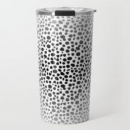 Small Random Dots Salmon Travel Mug