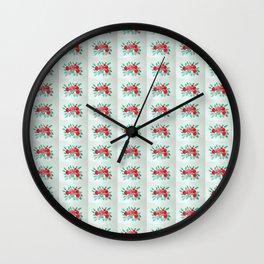 Roses V-A Wall Clock