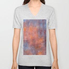 Orange Color Fog Unisex V-Neck