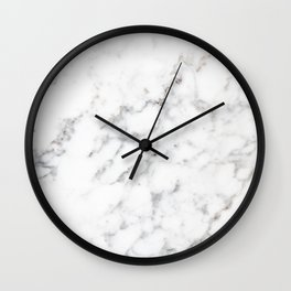 Faux White Marble Texture Look-like (NOTICE: Not Real Marble) Wall Clock