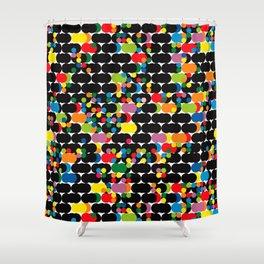 DOTS - polka 1 Shower Curtain