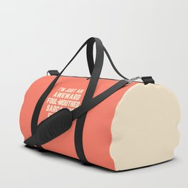 Awkward Fucking Delight Funny Quote Duffle Bag