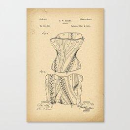 1884 Patent Corset Canvas Print