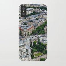 Paris France Aerial View Slim Case iPhone X