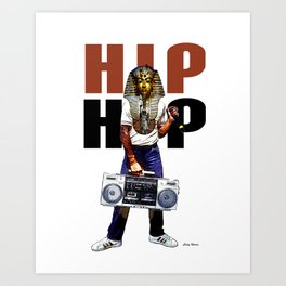 Hip Hop Pharoah Art Print