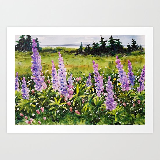 Lupines of Nova Scotia Art Print