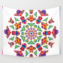 Prismatic Kaleidoscopicism Wall Tapestry