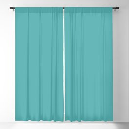 Solid Color Dark Pastel Teal Pairs to Pantone 15-5217 Blue Turquoise Blackout Curtain