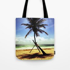 Palm on the beach. Tote Bag