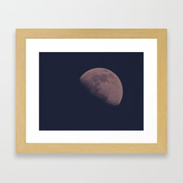 Half Moon Framed Art Print