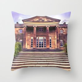 Hillsborough Castle, Northern Ireland. (Painting) Throw Pillow