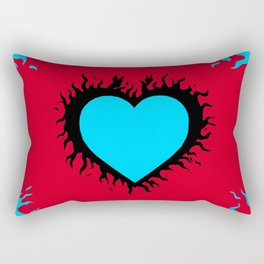 Flaming Heart Rectangular Pillow