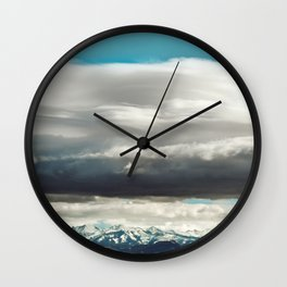 Crazy Mountain Cloud Cover Wall Clock