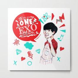 EXO WE ARE ONE! Baekhyun Version Metal Print