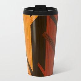 Retro Fall Woods by Friztin Travel Mug