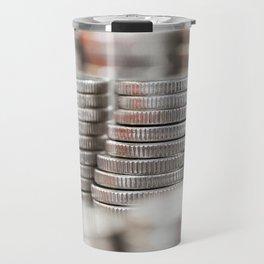 tacked silver coins Travel Mug