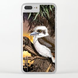 Kookaburra Sits on the Old Gum Tree Clear iPhone Case