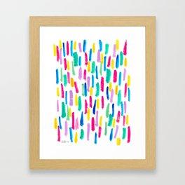 Colorful Pattern Stripes Abstract Modern - Just Enjoy Framed Art Print