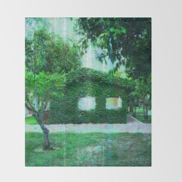 Green Heaven by Lika Ramati Throw Blanket