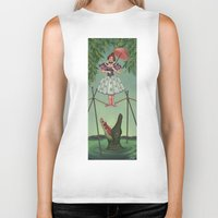 haunted mansion Biker Tanks featuring Disquieting Metamorphosis - Haunted Mansion by Patricia Cervantes