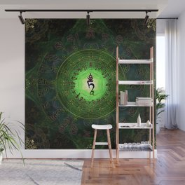 Green Tara Mantra- Protection from dangers and suffering Wall Mural