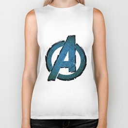 UNREAL PARTY 2012 AVENGERS LOGO FLYERS Biker Tank