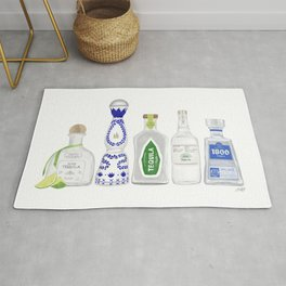 Tequila Bottles Illustration Rug