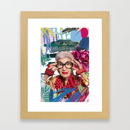 More is more and less is bore Framed Art Print