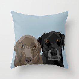 Two Labradors Throw Pillow