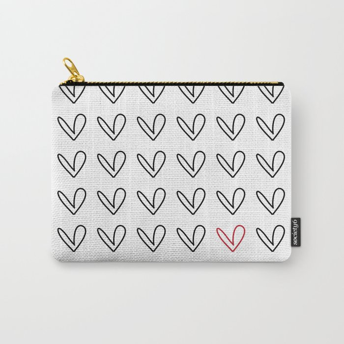 HEARTS ALL OVER PATTERN III Carry-All Pouch